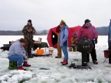 K&E Tackle Bum Lake ice fishing get together 02062011-069 some of the anglers