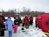 K&E Tackle Bum Lake ice fishing get together 02062011-073 including group cookout