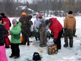 K&E Tackle Bum Lake ice fishing get together 02062011-075 lunch for everyone