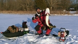 Keith Stanton with a huge Northern Pike he jigged through the ice on his PikeKilla jig
