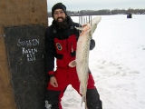 Keith Stanton speared this big Northern Pike through the ice
