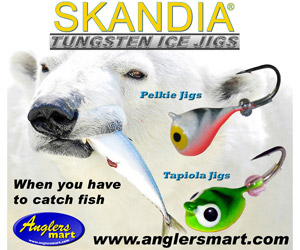 Anglers Mart Skandia Tungsten Ice Jigs - Pelkie and Tapiola