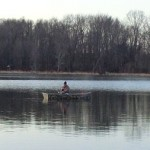 Instead of waiting for first ice, this angler borrowed a duck boat and caught some nice bluegills in Southern Michigan