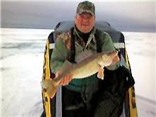 Bill Ferris Saginaw Bay Ice Fishing Walleye
