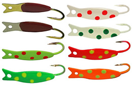 K & E Stopper Lures Best Russian Spoon colors
