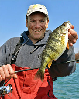 Open water opportunities abound for jumbo Lake St. Clair perch even if ice fishing isn't an option. Photo credit: Millennium Promotions, Inc.
