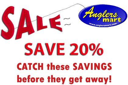 Anglers Mart 20% Ice Fishing Tackle Valentines Sale