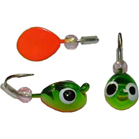 The Skandia Tapiola Tungsten Jig is ideal for good visibility while sight fishing through the ice.