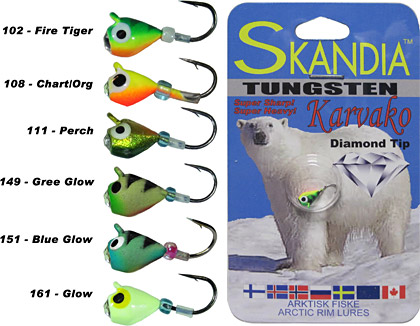 Skandia Diamond-tip Tungsten Jigs