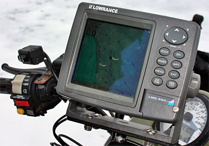 Fishing electronics, like a good GPS unit, play a key role in locating areas where whitefish feed. Photo Credit: Jeff Nedwick