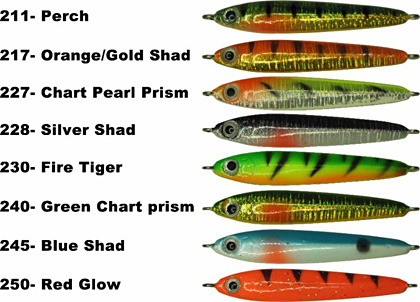 Sitka Smelt Stick including new colors blue shad and red glow