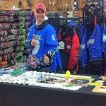 Joe Devera mans the product knowledge table at Jay's Ice Day 2015