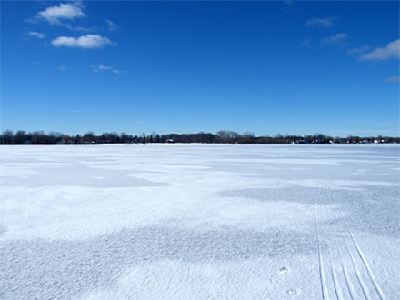 Ice covered lake, is it safe?