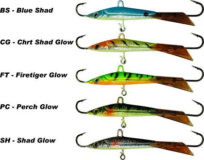 Yukon Shiner minnow color chart