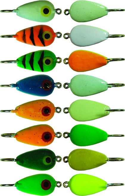 Skandia teardrop ice jig color chart